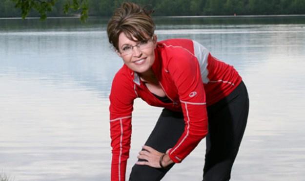 Sarah Palin is running … literally.