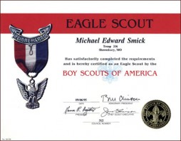 eagle scout certificate