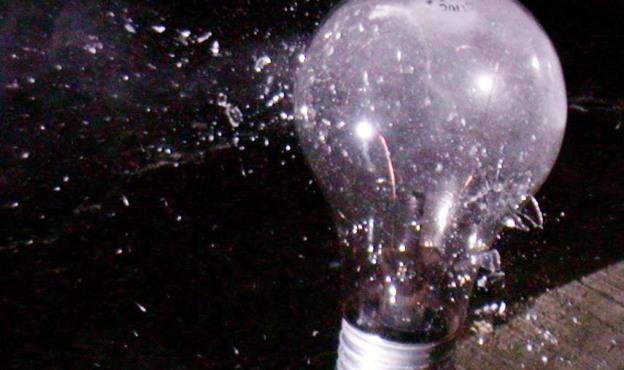 ellie light bulb shattered