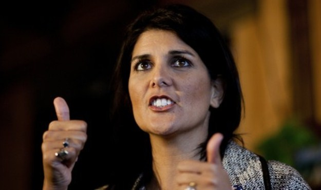 Nikki Haley thumbs up