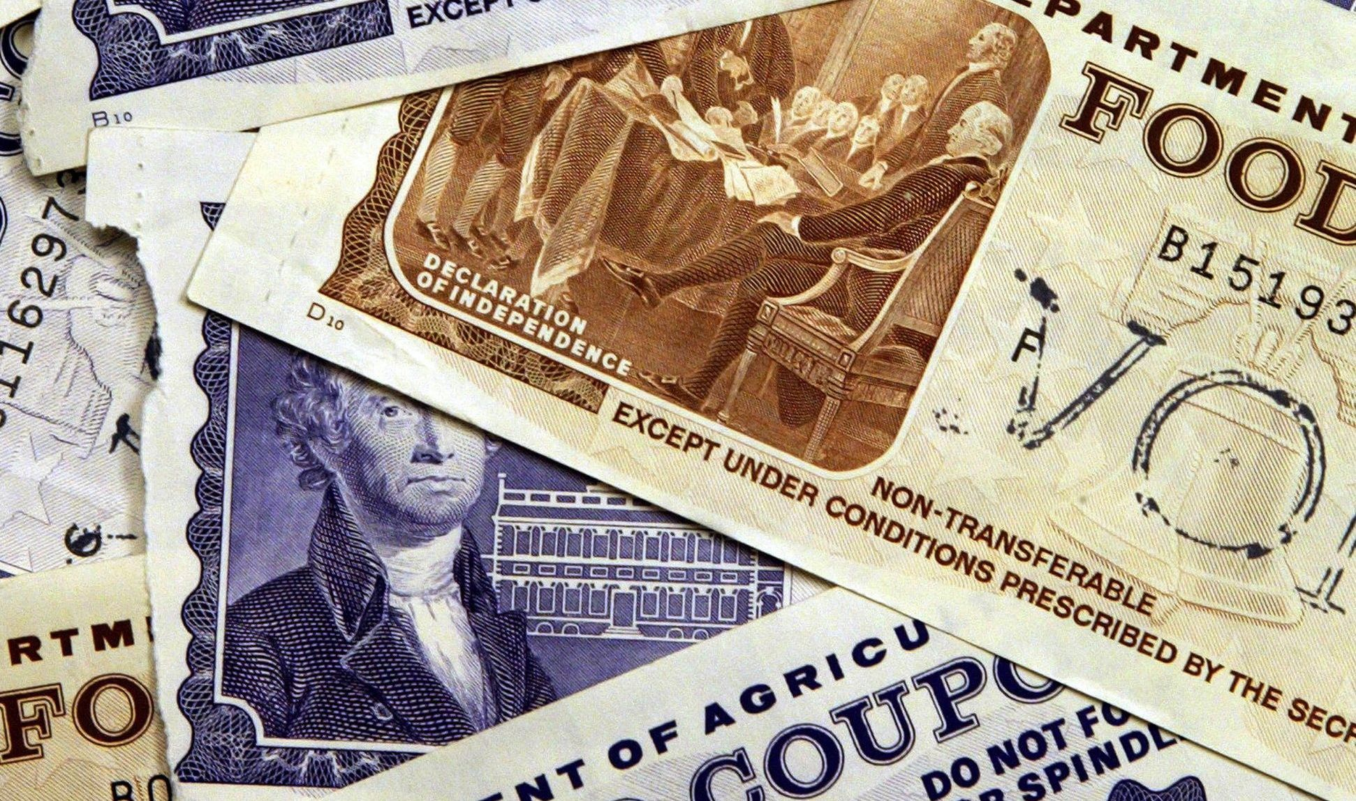 food stamp Food stamp definition, any of the coupons sold or given under a federal program to eligible needy persons and redeemable for food at designated grocery stores or markets.