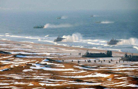 north korea hovercraft