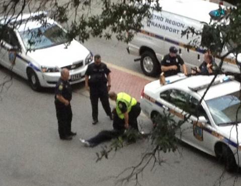 downtown arrest