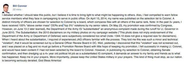 bill connor fb post
