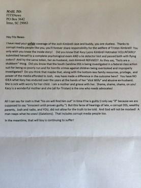 hatmaker letter