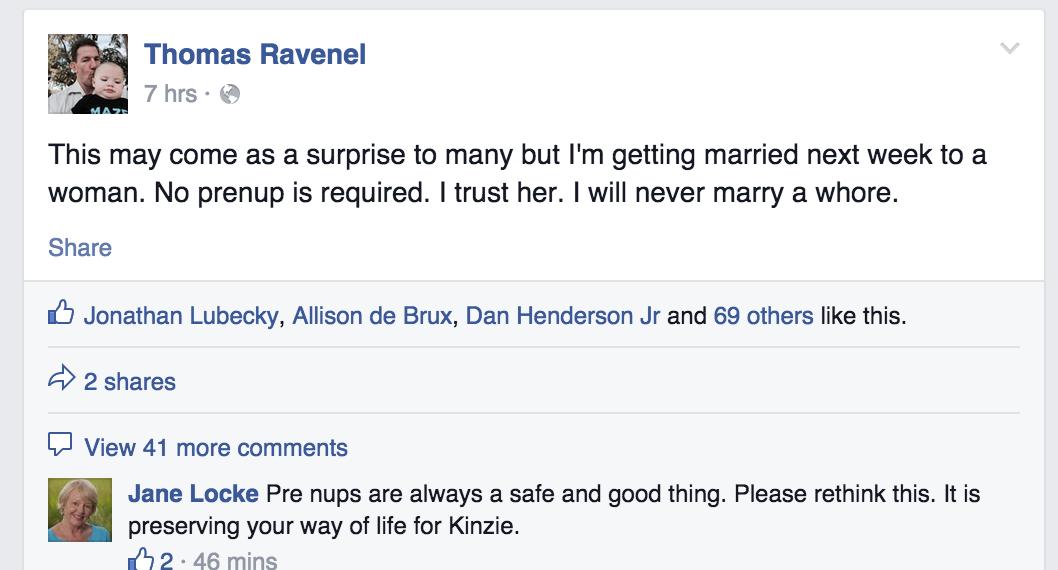 """Thomas Ravenel: """"I'm Getting Married"""" – FITSNews"""