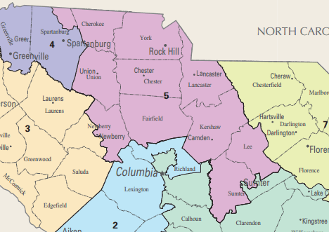 carolina s fifth congressional district map that