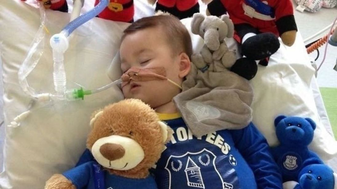 Theresa May says her condolences are with family of Alfie Evans