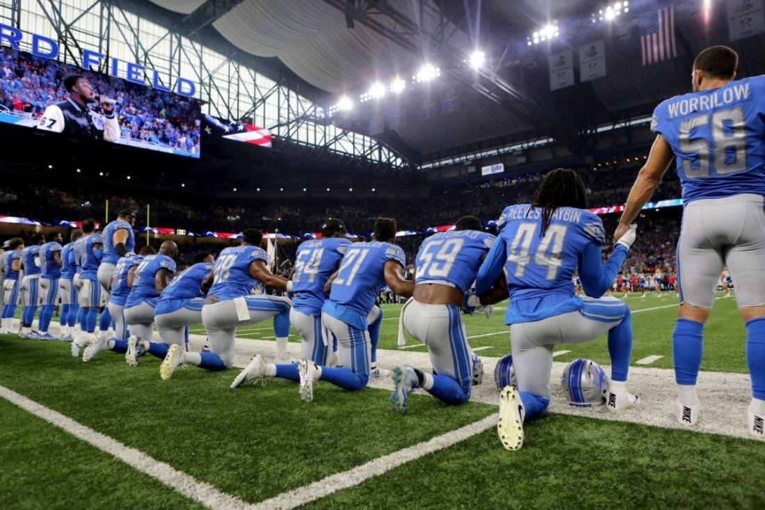 President Trump suggests National Football League  players who kneel shouldn't be in U.S.