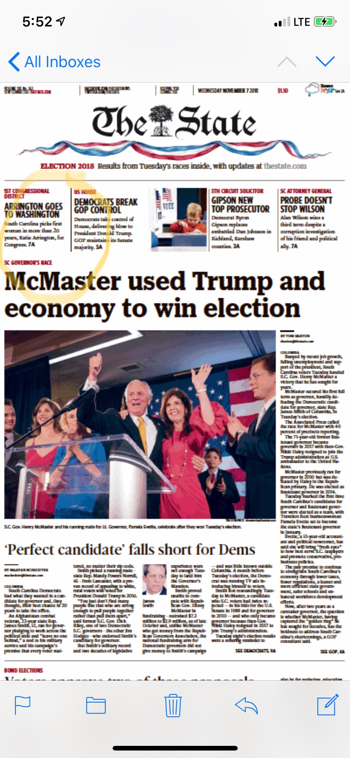 State election headline
