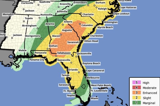 SC weather update by NWS