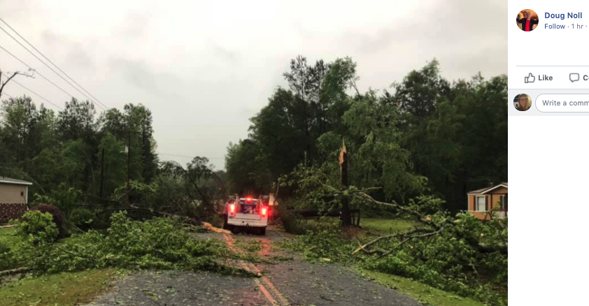 Tornado Damage Hampton County